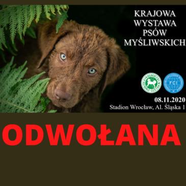 Wystawa Psów Myśliwskich 08.11.2020 ODWOŁANA
